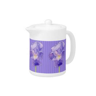 Lila Iris-lila Teekanne