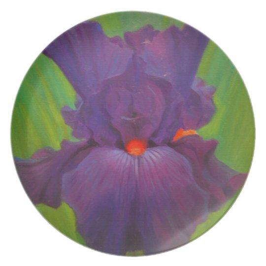 Lila Iris-Melamin-Platte Teller