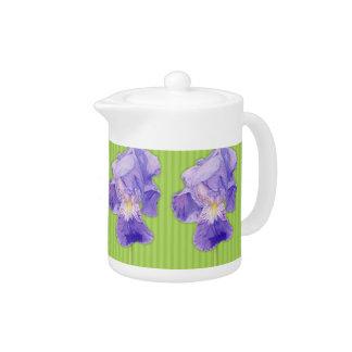 Lila Irisgrün Teekanne