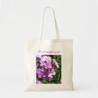 Lila ist Wildblumen-Es eine schöne Welt Tragetasche