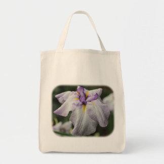 Lila japanische Iris-Blumennatur-Taschen-Tasche Tragetasche