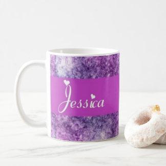 lila Jessica Kaffeetasse