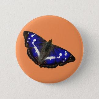 Lila Kaiser-Schmetterling Runder Button 5,7 Cm