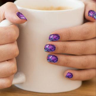 Lila karierte Verwirrung Minx Nagelkunst