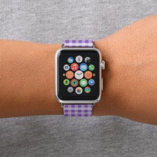 Lila kariertes apple watch armband