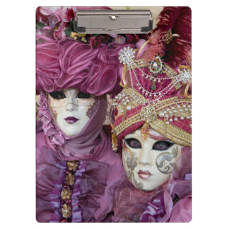 Lila Karnevalskostüm, Venedig Klemmbrett