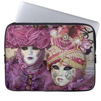 Lila Karnevalskostüm, Venedig Laptop Sleeve