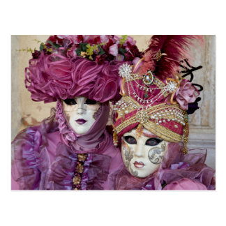 Lila Karnevalskostüm, Venedig Postkarte