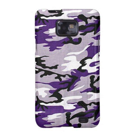 Lila Kasten Camouflage-Samsungs-Galaxie-S Samsung Galaxy S2 Case