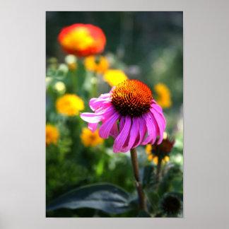 Lila Kegel-Blume Plakat
