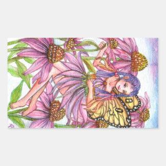 Lila Kegel-Blumen-Fee Rechteckiger Aufkleber