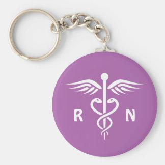 Lila keychain caduceus registrierte Krankenschwest Schlüsselanhänger
