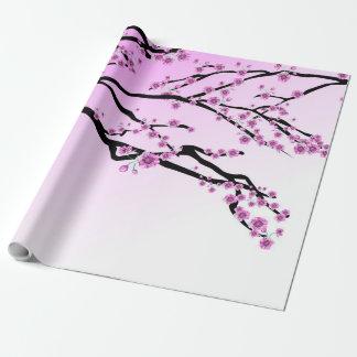 Lila Kirschblüte Kirschblüte Geschenkpapier