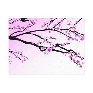 Lila Kirschblüte Kirschblüte Leinwanddruck