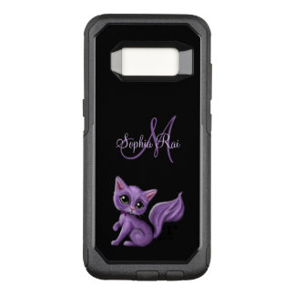Lila Kitty-Monogramm OtterBox Commuter Samsung Galaxy S8 Hülle