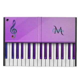 Lila Klavier-Monogramm-MusikClef