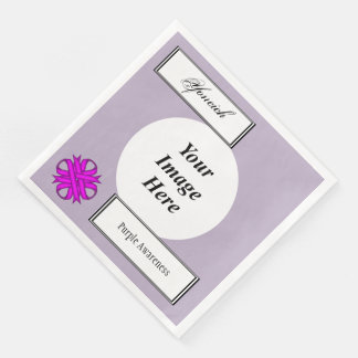 Lila Klee-Band-Schablone durch Kenneth Yoncich Papierservietten