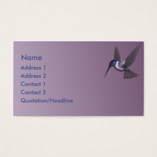 Lila Kolibri-kundenspezifische Geschäfts-Karte KRW Visitenkarte