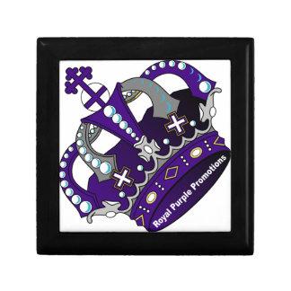 Lila königliche Krone Geschenkbox