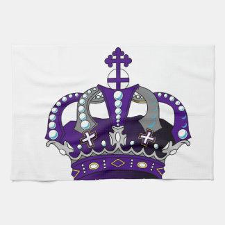 Lila königliche Krone Handtuch