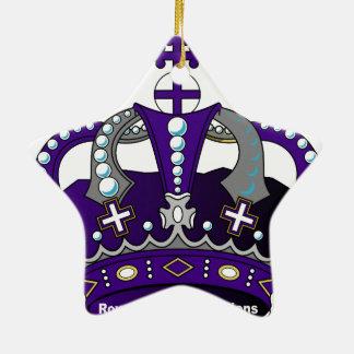 Lila königliche Krone Keramik Ornament