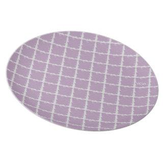 Lila Krawatten-Muster Flache Teller