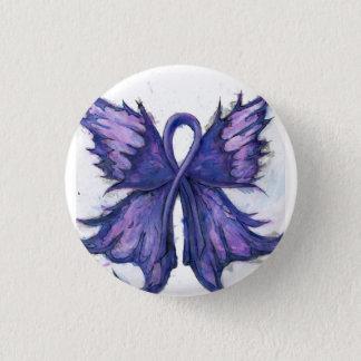 Lila Krebs-Band mit Schmetterlings-Flügeln Runder Button 3,2 Cm