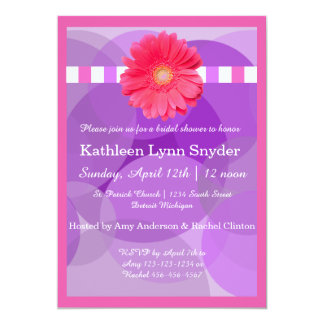 Lila Kreise - Brautparty-Einladung Karte
