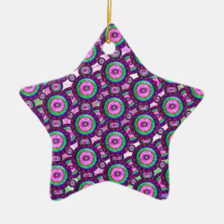 Lila Kreise Keramik Stern-Ornament