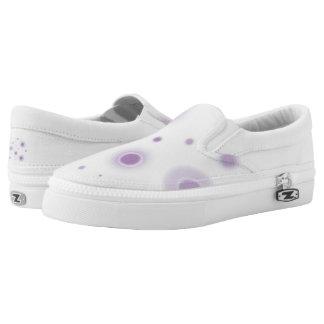 lila Kreise Slip-On Sneaker