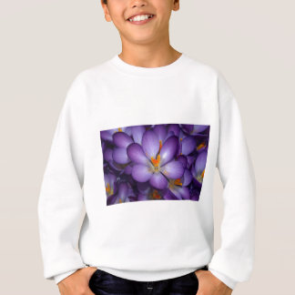 Lila Krokus-Blumenstrauß Sweatshirt
