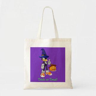 Lila kundenspezifische Halloween-Leckerei sackt Leinentaschen