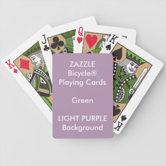 LILA kundenspezifisches Bicycle® Grün-Spielkarten Bicycle Spielkarten
