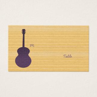 Lila Land-Gitarren-Platzkarte Visitenkarte