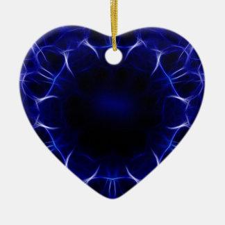 lila Laser-Muster Keramik Ornament