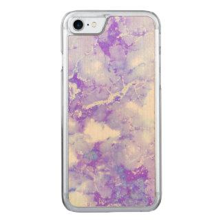 Lila Lavendel-bewölkter Marmorstein Carved iPhone 8/7 Hülle