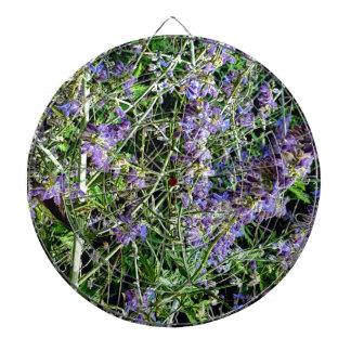 Lila Lavendel-botanische Blumen Dartscheibe