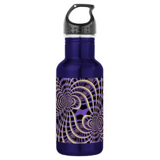 Lila Lavendel-Gitter-Flasche Trinkflasche