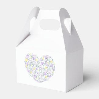 Lila Lavendel-Herz-Blumen-Hochzeits-mit Geschenkschachtel