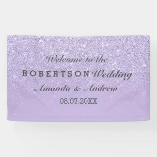 Lila Lavendel-Imitat-Glitter ombre Hochzeit Banner