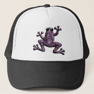 Lila Lavendel-Paisley-Frosch Truckerkappe