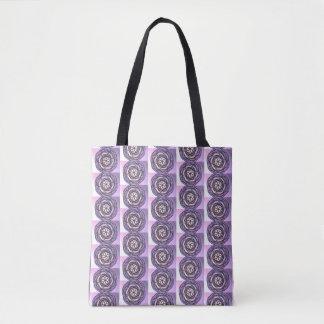 Lila Leidenschafts-Blumen-Muster Tasche
