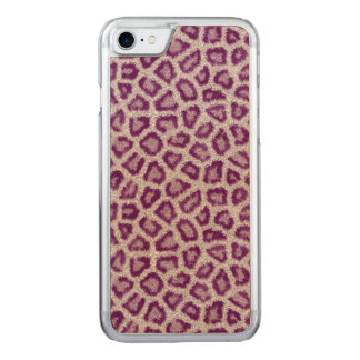 Lila Leopard Carved iPhone 8/7 Hülle