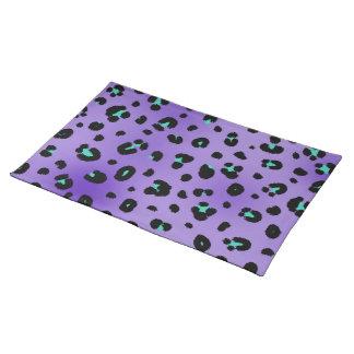 Lila Leopard-Druck-Platzmatte Tischset