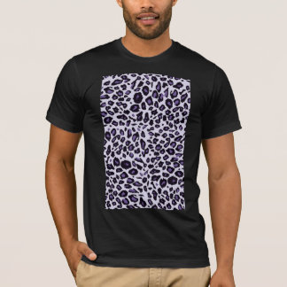 Lila Leoparddruck T-Shirt