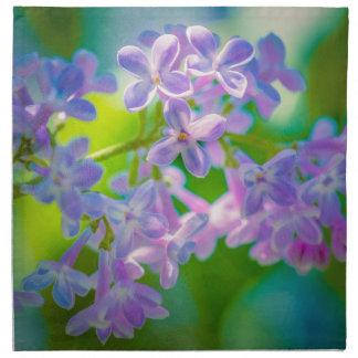 Lila lila Blumen Stoffserviette