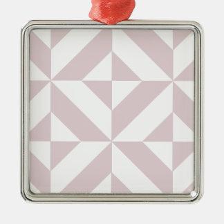 Lila lila geometrisches Deko-Würfel-Muster Silbernes Ornament