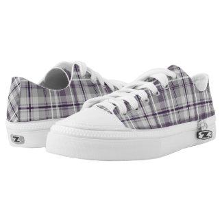 lila lila graues kariertes Muster Niedrig-geschnittene Sneaker