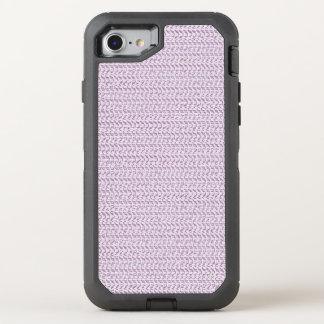 Lila lila Webart-Maschen-Blick OtterBox Defender iPhone 8/7 Hülle