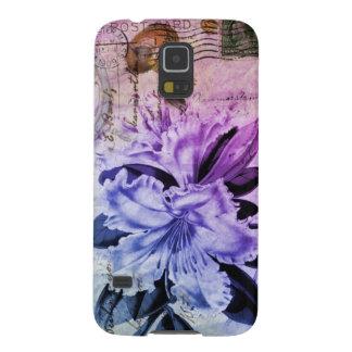 lila Lilie des französischen botanischen Samsung Galaxy S5 Hülle